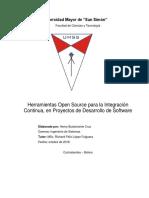 Herramientas Open Source Para La Integracion Continua en Proyectos de Desarrollo de Software