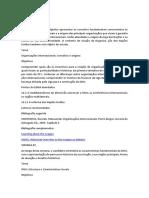 Políticas Internacionais Cronograma de Estudos