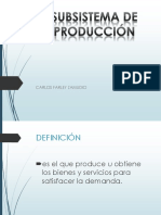 Subsitema de Produccion