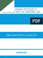 Problemas Eticos y Legales en La Unidad Qx