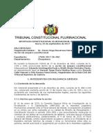 Sentencia Constitucional Plurinacional 0996-2017