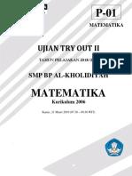 Soal Try Out 2 Matematika Fix