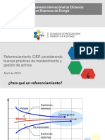 Referenciamiento Internacional de Eficiencia Cier 2019
