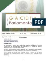 Gaceta Parlamentaria 19 Junio 2019