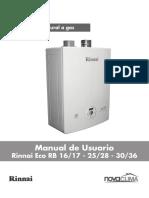 Manual Rinnai Eco