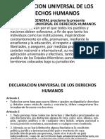 Presentacion Declaracion de Los Derechos Humanos