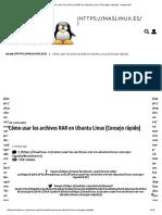 Como Usar Los Archivos RAR en Ubuntu Linux - Desconocido