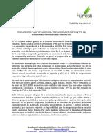 FUNDAMENTOS PARA VOTACIÓN DEL TRATADO TRANSPACÍFICO (TPP-11)