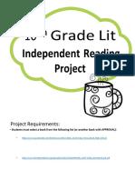 10thGradeIndependentReadingProject Quarter 2 (1)