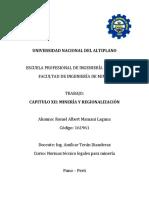 Cap Xii Mineria y Regionalizacion