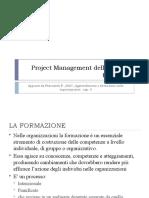 Project Management delle attività formative