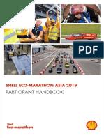 Shell Eco-marathon Asia 2019 - Participant Handbook