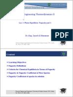 Lec 4-Phase Equilibria II - Fugacity-part 1