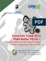 Proposal Turnamen Futsal 2014 Piala Rektor ITB Ke-1