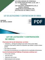 Ley de Licitaciones y Contratacion de Obras