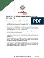 011. Robotica Cnc Series Sx Codigos g