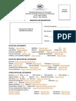 Registro de Inscripción 2015-2016
