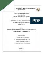 Tipos de Instrumentos Simbologia y Terminologia Con Respecto a Las Normas Isa