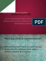 nomenclatura compuestos quimicos