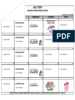 7 - 2019 July Activity Calendar Univ Manor