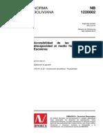 Norma Boliviana Nb Segunda Revision Numero de Referencia Nb 2013 Ics Edificacion en General