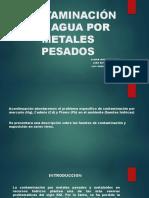 Contaminacion en El Agua Por Metales Pesados