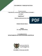 ANALISIS DE LA EVOLUCION  CONSTITUCIONAL DE PANAMÁ Y COLOMBIA.