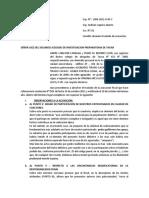 Modelo de Escristo Formulando Observaciones a La Acusacion Fiscal Por Defectos Formales