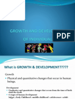 Growth and Development of Individuals