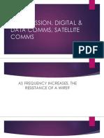 Transmission, Digital & Data Comms, Satellite