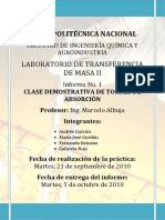 Informe 1 Clase Demostrativa de Columnas de Absorcion