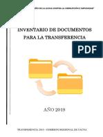 Inventario de Documentos Para Transferencia