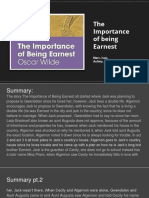 summary and analysis of the importance of being earnest