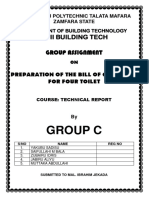 Preparation of  Bill of Quantities
