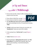 Shut Up and Dance Walkthrough Ep 1-4