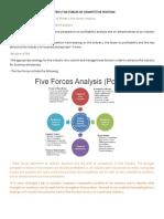 (4) Porter's Five Forces