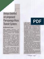Manila Standard, June 20, 2019, Arroyo briefed on proposed Pampanga Mass transit system.pdf