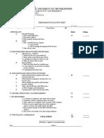 OJT Performance Evaluation Sheet