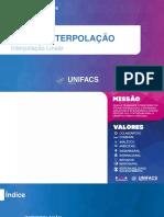 Aula 09 - Interpolação (Interpolação Linear)