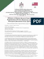 Affidavit of Allodial Secured Land Property Possession Written Statement #2