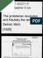 5. the Proletarian Revolutian and Karl Kautsky_The Renegade_V Lenin_1920_71pp