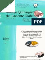 Manejo Quirúrgico Del Paciente Diabético