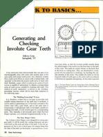 Gear teeth calculations
