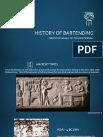 History of Bartending