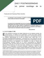 (Transcripción) FRISBY - Simmel El Primer Sociologo_FINAL