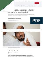 Saudi Arabia_ Moderate Islamic Scholars 'to Be Executed' _ World News _ Sky News