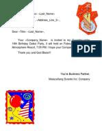 Generic Letter Arambala & Torculas