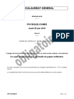 Bac 2019 S Physique Chimie Obligatoire