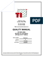 Quality Manual Texas Oilfield