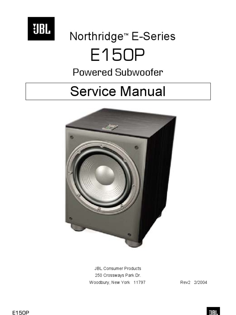 jbl e150p service manual amplifier loudspeaker rh scribd com JBL Parts JBL Black Box 180